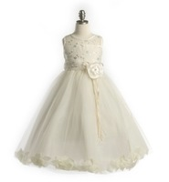Ivory Flower Girl Dress w/Petals, J2925