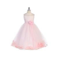 Pink Flower Girl Petal Dress, J2925