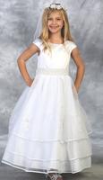 Satin Layered Flower Girl Dress J363
