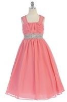Chiffon Girls Pageant Dress, J372