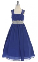 Beaded Chiffon Pageant Dress, J372
