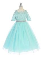 Lace & Tulle Girls Formal Dress J3794
