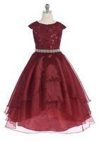 Beaded Flowergirl Gown J3811