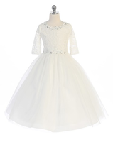 Lace Flower Girl Dress J385