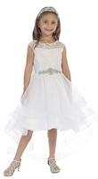 High Low Flowergirl Dress J3889