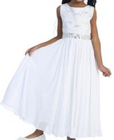 Lace Chiffon Girls Formal Dress J518