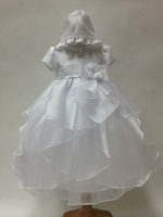 Tiered Chiffon Christening Gown, K1700