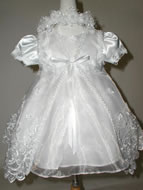 Beaded Christening Dress w/ Bolero, K4000