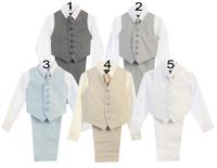 Boys Linen Vest Set, V24