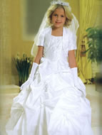 Beaded Corset Pickup First Holy Communion Gown, MB803