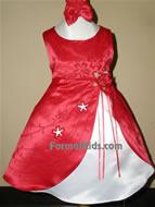 Satin A-line Infant Formal, KL28, Red