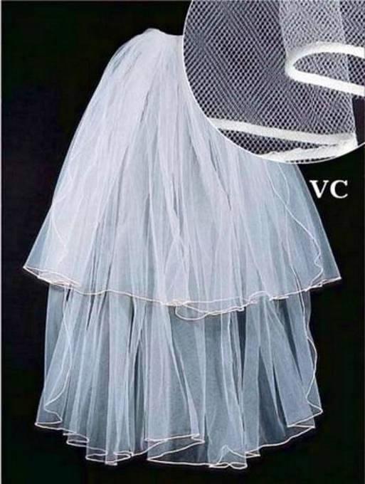 Bridal Veil, Satin Edge